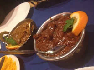 Beef Vindaloo and Lamb Badami