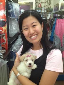 Fluffball from pet shop