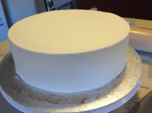 Cake Covered with Fondant
