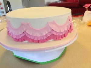 Final Layer of Light Pink Ruffles