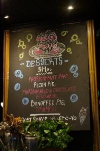 Special Dessert Menu