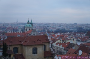 Prague City View from the Castle