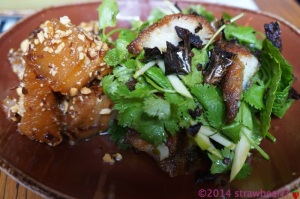 Dish 5: Crispy Barramundi and Green Apple Salad with Caramelised Pork, Peanuts, Chilli and Lemongrass