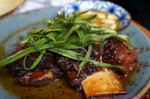 Dish 7: Twice Cooked Grass Fed Victorian Beef Short Rib with Coriander and Prik Nahm Pla