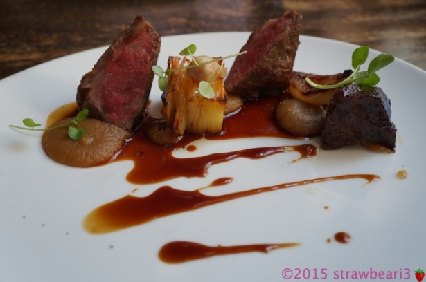 Wagyu Sirloin, Braised Beef Cheek